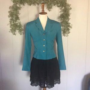 VINTAGE BOOMINGDALES Silk Cropped Blazer Jacket 2